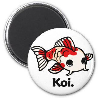 Koi Koi. 2 Inch Round Magnet