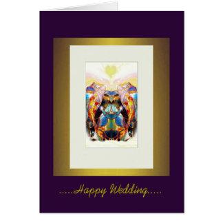 Koi Lovers Luxury Happy Wedding Greeting Card