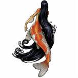 Koi Mermaid cutout Pin/Ornament/Magnet