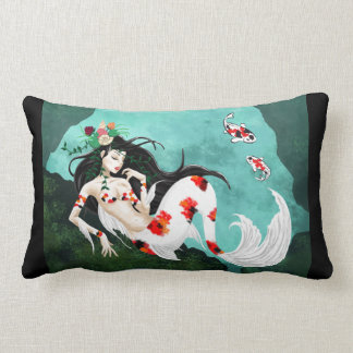 Koi Mermaid Lumbar Pillow
