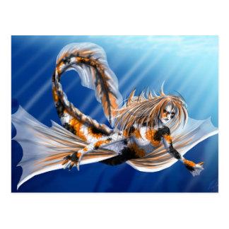 Koi Mermaid Post Card