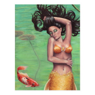 Koi Mermaid - Postcard