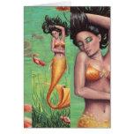 Koi Mermaid Postcard Stationery Note Card