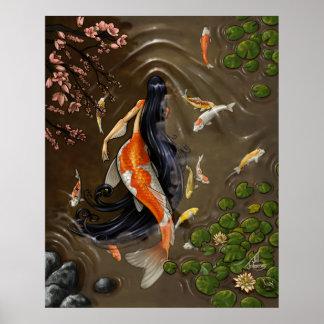 Koi Mermaid Print