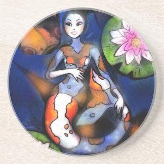 Koi Mermaid Round coaster