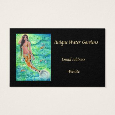Professional Business koi mermaid with koi fish business cards by Renee