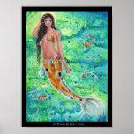 koi mermaid with koi fish canvas print Renee
