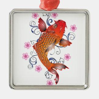 Koi Metal Ornament