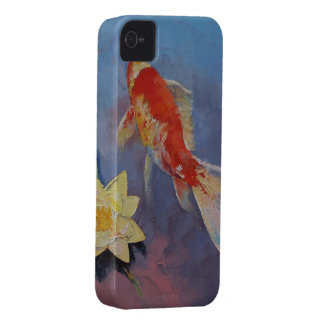 Koi on Blue and Mauve Case-Mate iPhone 4 Case