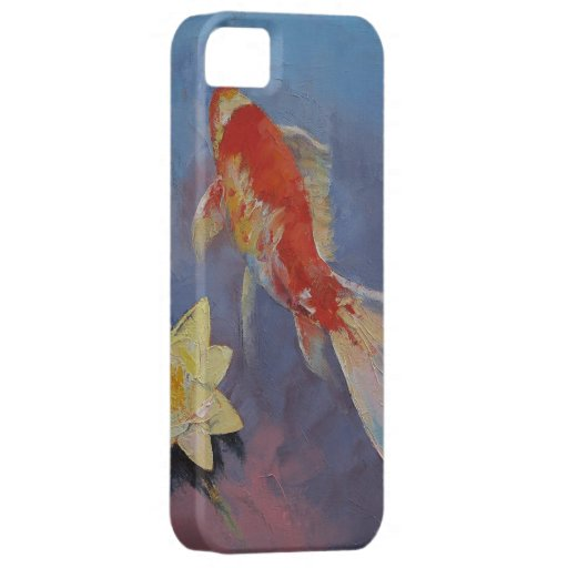 Koi on Blue and Mauve iPhone SE/5/5s Case
