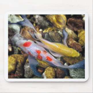 Koi Over Rocks by Artist McKenzie Mouse Pad