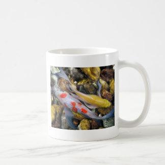 Koi Over Rocks by Artist McKenzie Classic White Coffee Mug