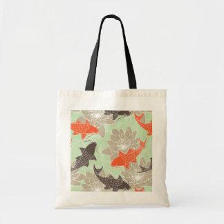 Koi Pattern Budget Tote Bag