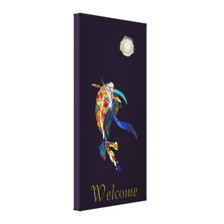 Koi & Pearl Planet Excellent Welcome Canvas Print
