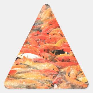 Koi Pegatina Triangular