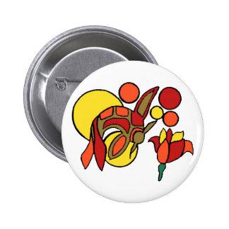 Koi Pin Redondo De 2 Pulgadas