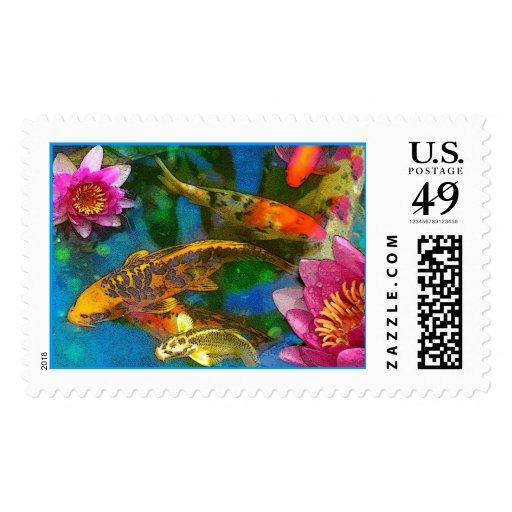 Koi Play, Postage Stamp
