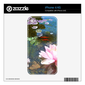 Koi Pond 4-20 Skin For iPhone 4S