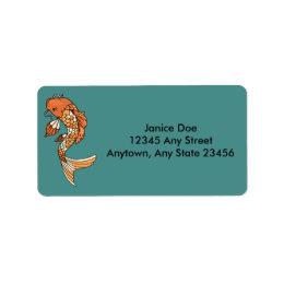 Koi Pond Address Label