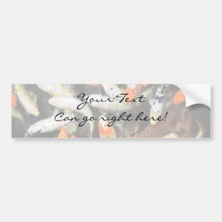 Koi Pond Artistic Photo Bumper Sticker