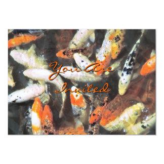 Koi Pond Artistic Photo Card