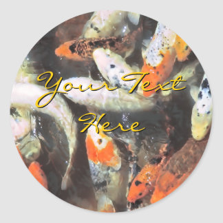 Koi Pond Artistic Photo Classic Round Sticker