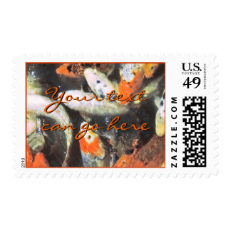 Koi Pond Artistic Photo Stamp
