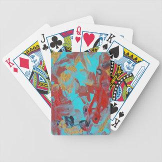 Koi pond bicycle playing cards