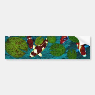 KOI POND BUMPER STICKER