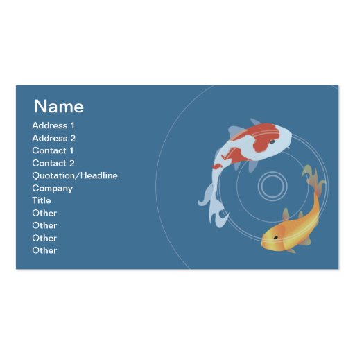 Koi pond business business card zazzle for Fish pond business