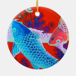 Koi carp pond ornaments keepsake ornaments zazzle for Japanese pond ornaments