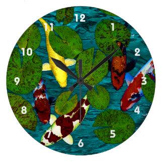 KOI POND Clock
