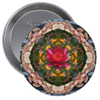 Koi pond kaleidoscope button