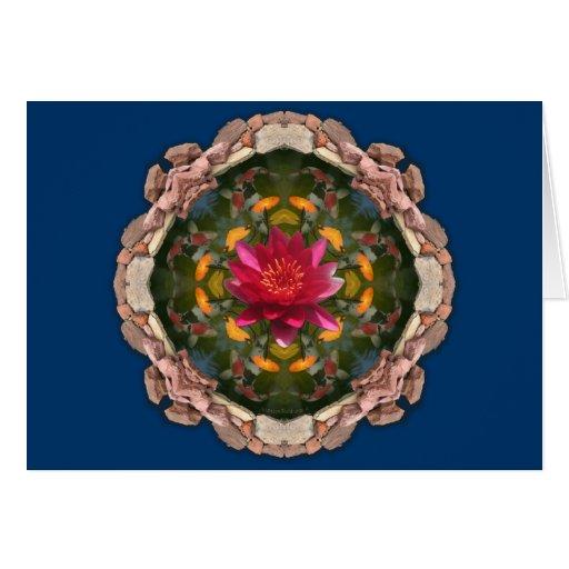 Koi pond kaleidoscope card
