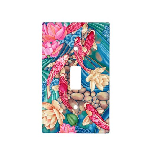 Koi pond light switch cover zazzle for Koi pool cover