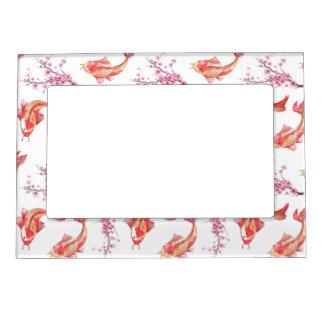 Koi Pond Magnetic Picture Frame