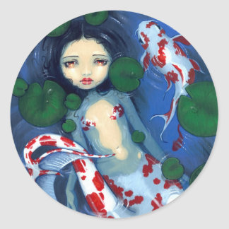 """Koi Pond Mermaid"" Sticker"