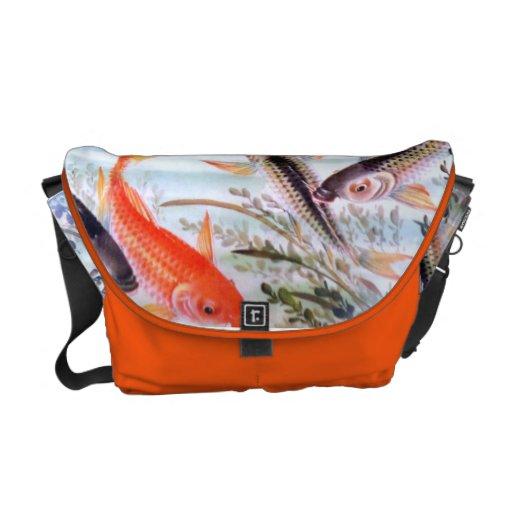 KOI POND MESSENGER BAGS