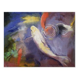 Koi Pond Painting Card