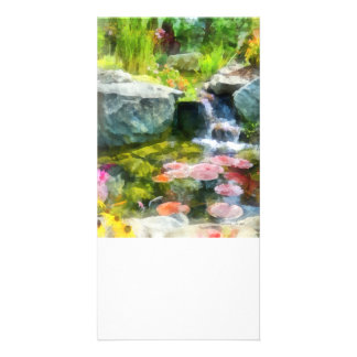 Koi Pond Photo Card