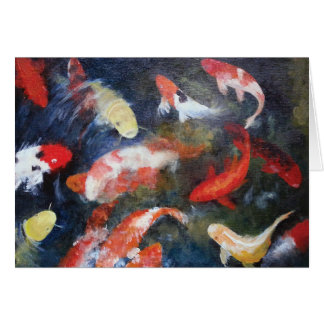 Koi Pond Print Greeting Cards and Note Cards