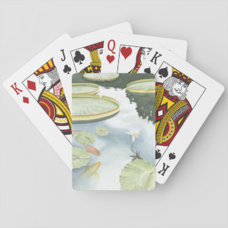 Koi Pond Reflection with Fish and Lilies Playing Cards