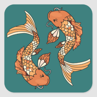 Koi Pond - Square Sticker