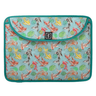 Koi pond watercolors sleeve for MacBook pro