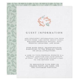 Koi Pond Wedding Guest Information Card