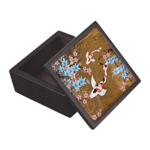 Koi pond wood japanese design 3 gift box premium for Koi pond gift ideas