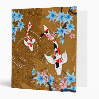 Koi Pond - wood - Japanese Design Binder