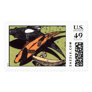 KOI print Postage Stamps