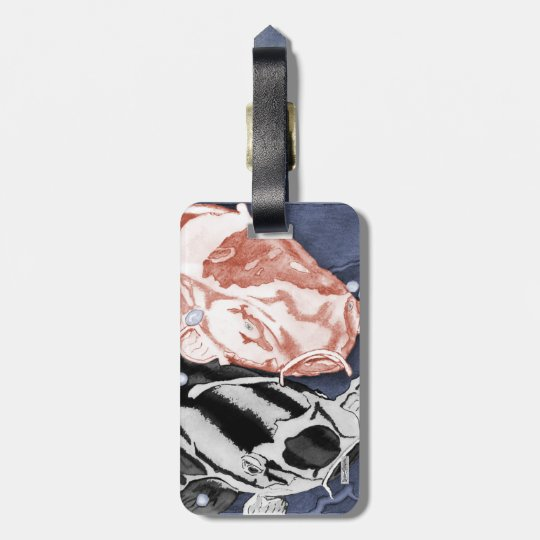 Koi (Red and Black) Luggage Tag