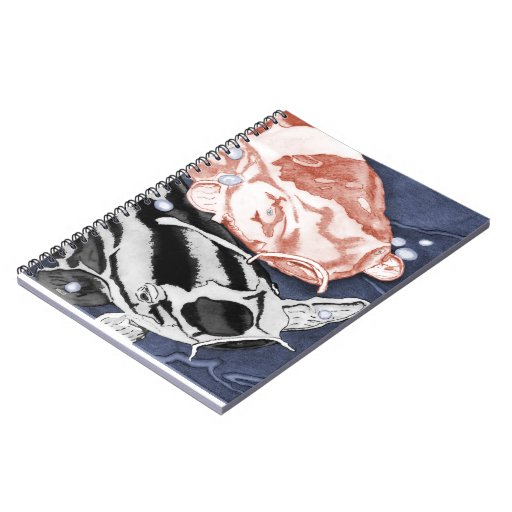 Koi (Red and Black) Spiral Note Book